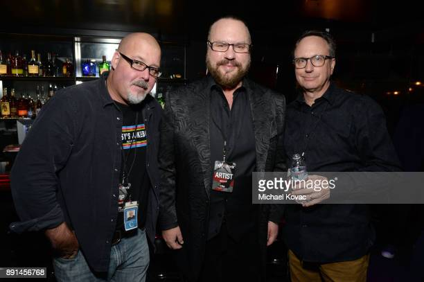 Keith Cunningham Desmond Child and Scott Jameson attend the neXt2rock 2017 Finale Event at Viper Room on December 12 2017 in West Hollywood California
