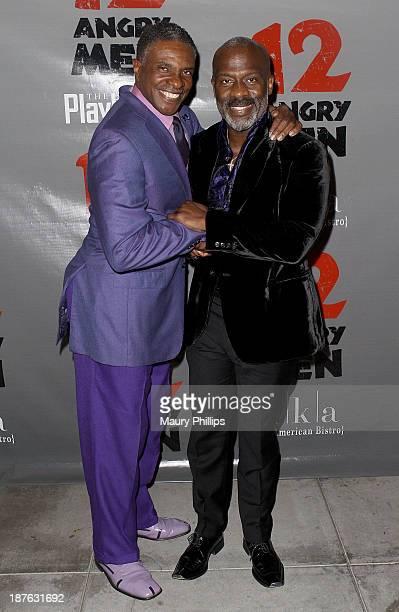 Keith David and BeBe Winans attend '12 Angry Men' at the Pasadena Playhouse on November 10 2013 in Pasadena California