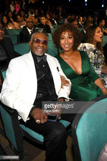 Keith David and Dionne Lea Williams attend the 51st NAACP Image Awards Presented by BET at Pasadena Civic Auditorium on February 22 2020 in Pasadena...
