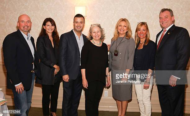 Keith Davis Anna ThroneHolst Michael Capace Dede Gotthelf Debra Haplert Tracy Mitchell and Kevin OConnor attend Hamptons Magazine Local Business...