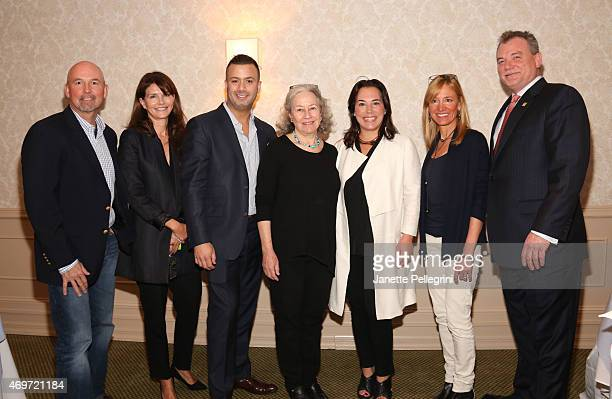 Keith Davis Anna ThroneHolst Michael Capace Dede Gotthelf Samantha Yanks Tracy Mitchell and Kevin OConnor attend Hamptons Magazine Local Business...