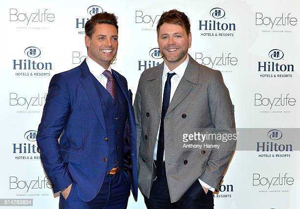 Keith Duffy and Brian McFadden from Boyzone and Westlife have joined forces to create Boyzlife at Hilton London Bankside on March 8 2016 in London...