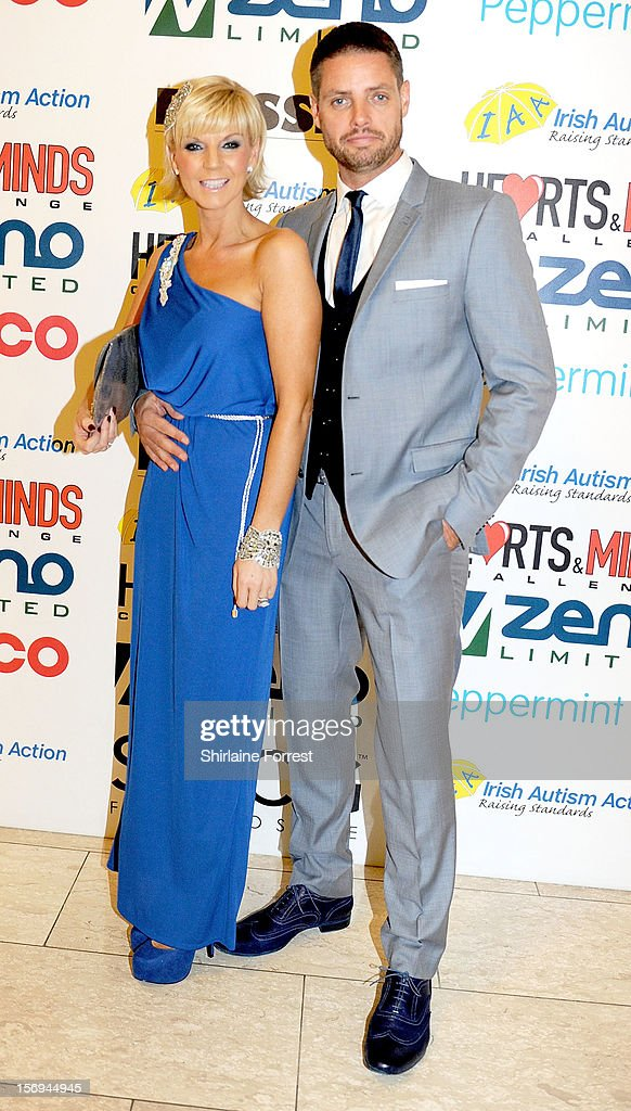 Keith Duffy and wife Lisa Duffy attend the Hearts and Minds charity ball at Hilton Hotel on November 25, 2012 in Manchester, England.