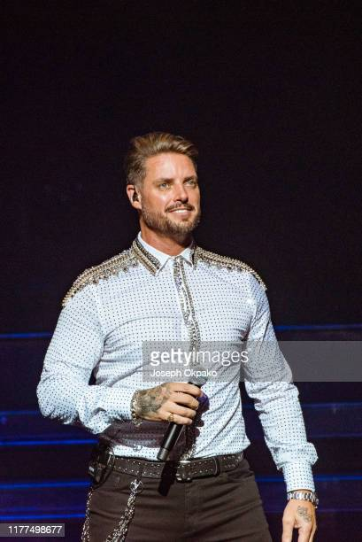 Keith Duffy of Boyzone performs on stage at the London Palladium during The Last Five tour on October 21 2019 in London England