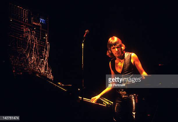 Keith Emerson performs with Emerson, Lake and Palmer at Oakland Coliseum Arena on August 6, 1977 in Oakland, California.