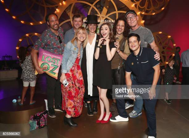 Keith Ferguson Chris Cox Allison Mack Nika Futterman Ashley Boettcher Alexander Polinsky Stephen Stanton and Jorge Diaz attend Amazon Studios'...