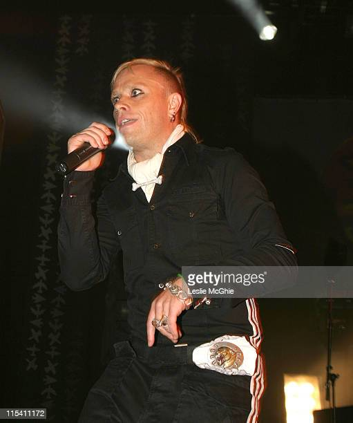 Keith Flint of The Prodigy during The Prodigy in Concert at Brixton Academy in London August 7 2005 at Brixton Academy in London Great Britain