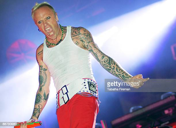 Keith Flint of The Prodigy headlines the Other stage on the last day of Glastonbury Festival at Worthy Farm on June 28 2009 in Glastonbury England