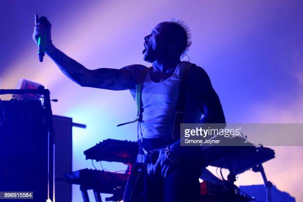 Keith Flint of The Prodigy perform live on stage at O2 Academy Brixton on December 21 2017 in London England