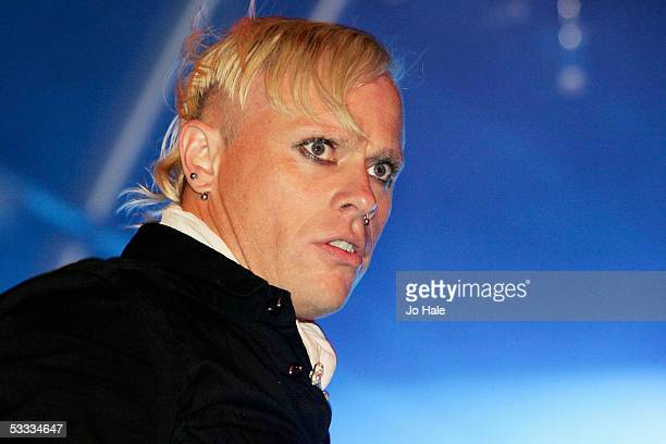 Keith Flint of The Prodigy performs at the Grolsch Summer Set at Somerset House on August 6 2005 in London England