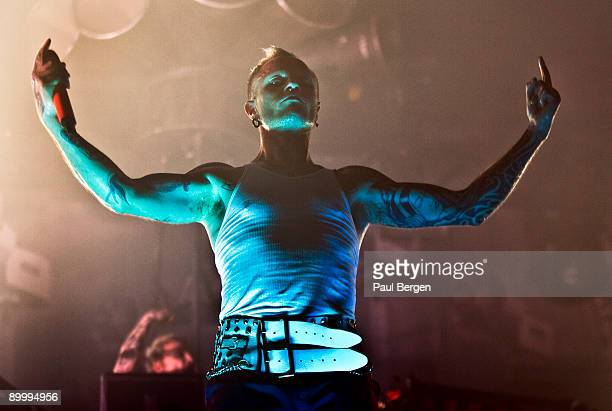 Keith Flint of The Prodigy performs during the first day of Lowlands festival at Evenemententerrein Walibi World on August 21 2009 in Biddinghuizen...