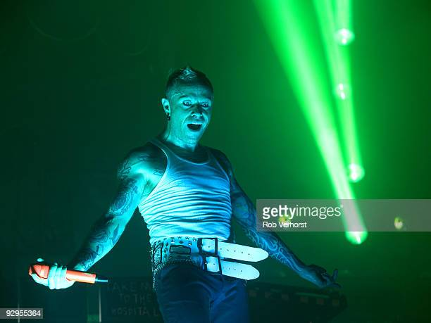 Keith Flint of The Prodigy performs on stage at the Lowlands Festival on August 21st 2009 in Biddinghuizen Netherlands