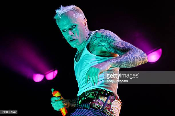 Keith Flint of The Prodigy performs on stage at Wembley Arena on April 16 2009 in London England