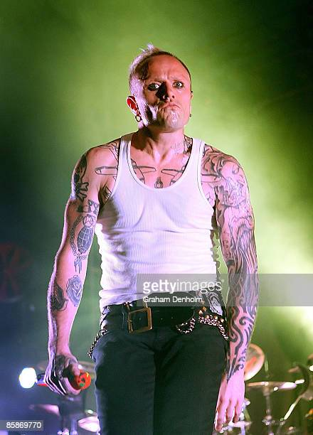 Keith Flint of The Prodigy performs on stage during the Big Day Out 2009 at the Adelaide Showground on January 30 2009 in Adelaide Australia