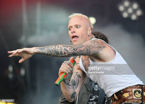 Keith Flint of The Prodigy performs on stage on day 3 of Rock Im Park at Frankenstadion on June 7 2009 in Nuremberg Germany