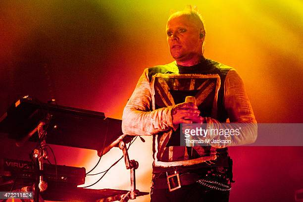 Keith Flint of The Prodigy performs onstage at O2 Academy Newcastle on May 4 2015 in Newcastle upon Tyne United Kingdom