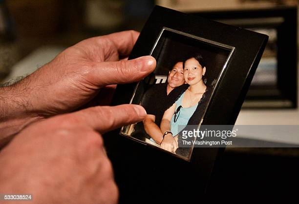 Keith Gartenlaub points to a photo of himself and his wife at their home in Southern California on Wednesday March 23 2016 Gartenlaub has been...