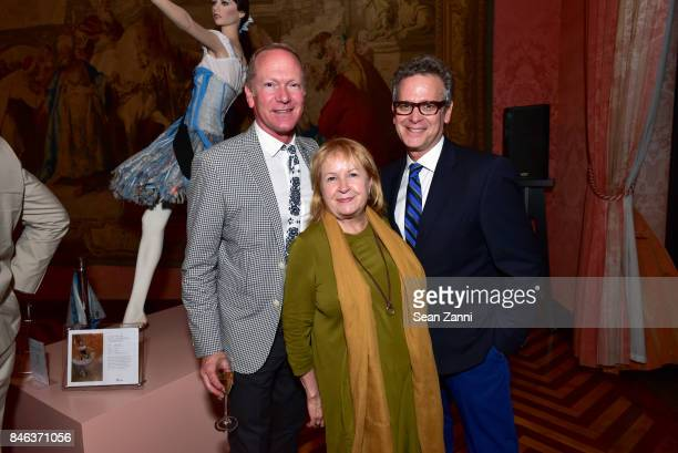 Keith Gordon Bethann Matari and Barry Garalnick attend ELLE DECOR Celebration of Iconic French Style at the French Consulate on September 12 2017 in...