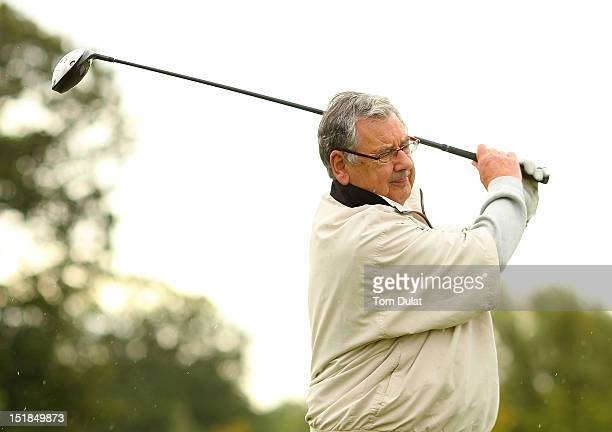 Keith Harvey of Brough Golf Club in action during the PGA Super 60's Tournament at the De Vere Belton Woods Golf Club on September 12 2012 in...