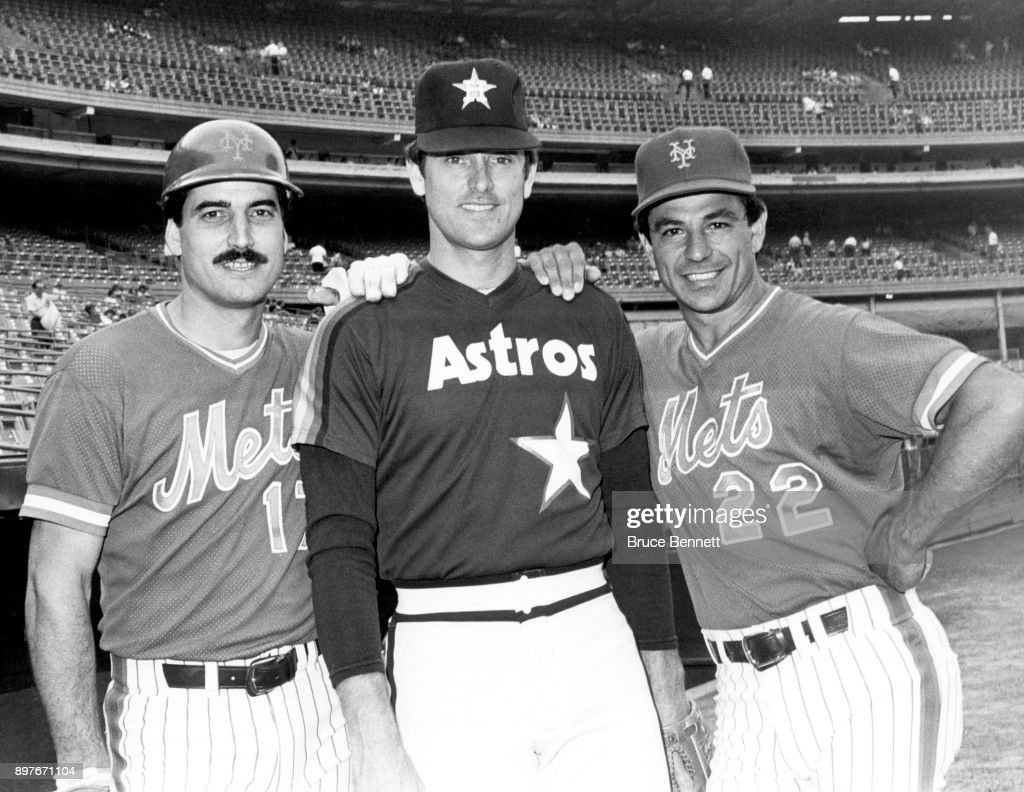 Keith Hernandez #17 And Bobby Valentine #22 Of The New York Mets Pose With
