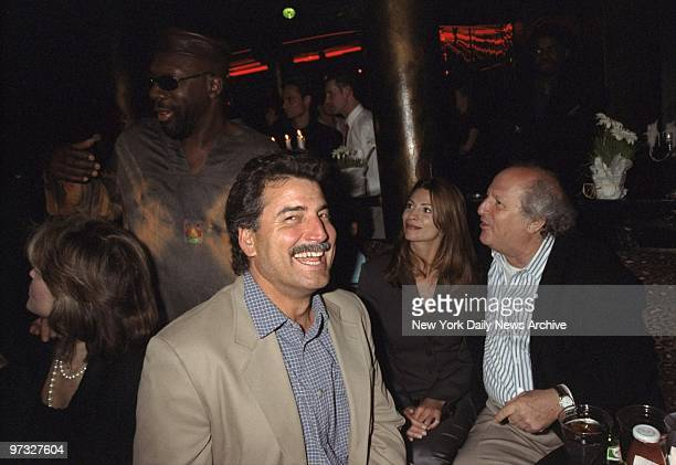 Keith Hernandez is on hand at the Kit Kat Klub for a Red Cross benefit to aid victims of the war in Yugoslavia. At right, is publicist Bobby Zarem.