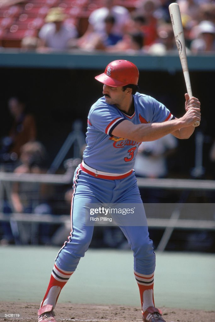 Keith Hernandez Of The St Louis Cardinals At Bat During A 1982