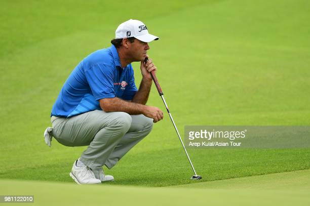 Keith Horne of South Africa pictured during round two of the Kolon Korea Open Golf Championship at Woo Jeong Hills Country Club on June 22 2018 in...