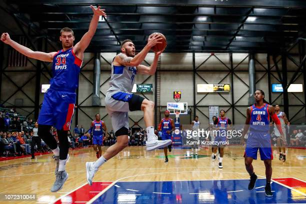 Keith Hornsby of the Texas Legends goes to the basket against the Grand Rapids Drive on December 12 2018 at DeltaPlex Arena in Grand Rapids Michigan...