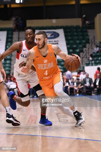 Keith Hornsby of the Texas Legends handles the ball against the Agua Caliente Clippers on March 18 2018 at the Dr Pepper Arena in Frisco Texas NOTE...