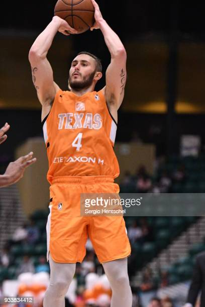 Keith Hornsby of the Texas Legends shoots the ball against the Agua Caliente Clippers on March 18 2018 at the Dr Pepper Arena in Frisco Texas NOTE TO...