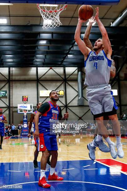 Keith Hornsby of the Texas Legends shoots the ball against the Grand Rapids Drive on December 12 2018 at DeltaPlex Arena in Grand Rapids Michigan...