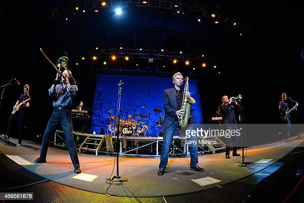 Keith Howland James Pankow Ray Herrmann Lee Loughnane and Jason Scheff of Chicago perform at Hard Rock Live in the Seminole Hard Rock Hotel Casino on...