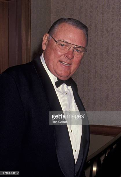 Keith Jackson attends American Sportscaster Association Hall of Fame Dinner on November 30 1994 at the Sheraton Hotel in New York City
