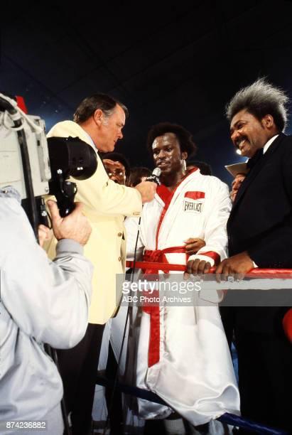 Keith Jackson Michael Dokes Don King interview at Caesars Palace December 10 1982