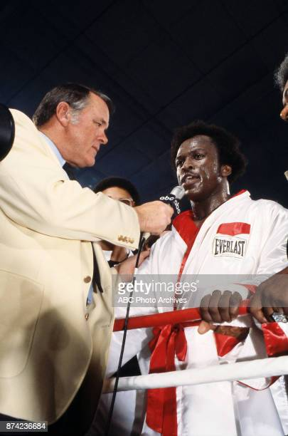 Keith Jackson Michael Dokes interview at Caesars Palace December 10 1982
