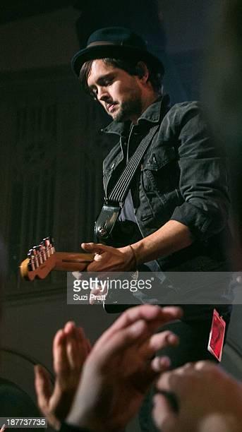 Keith Jeffery of Atlas Genius performs live at Neptune Theatre on November 11 2013 in Seattle Washington