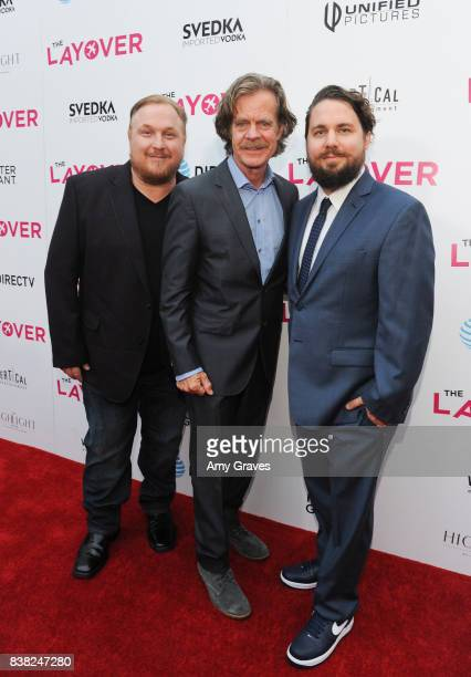 Keith Kjarval William H Macy and Tyler Jackson attend 'The Layover' film premiere hosted by Vertical Entertainment DIRECTV Foster Grant and SVEDKA on...