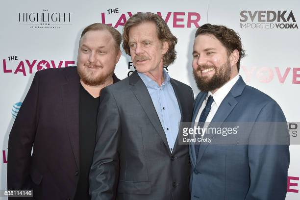 Keith Kjarval William H Macy and Tyler Jackson attend the Premiere Of DIRECTV And Vertical Entertainment's 'The Layover' Arrivals at ArcLight Cinemas...