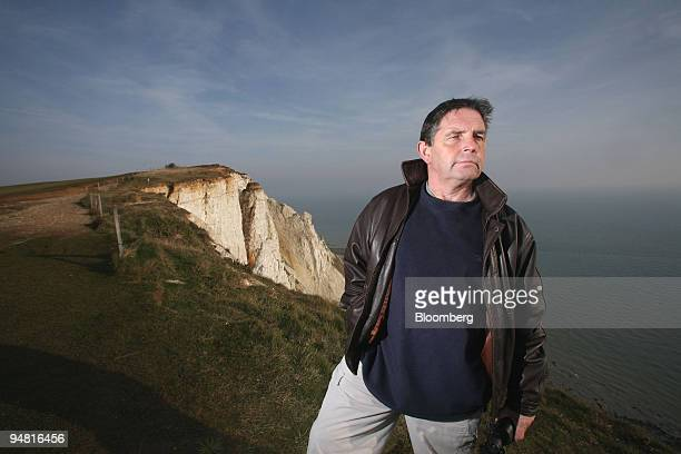 Keith Lane whose wife fell from the cliffs at Beachy Head poses on the cliff top at Beachy Head in Eastbourne East Sussex Tuesday January 24 2006...