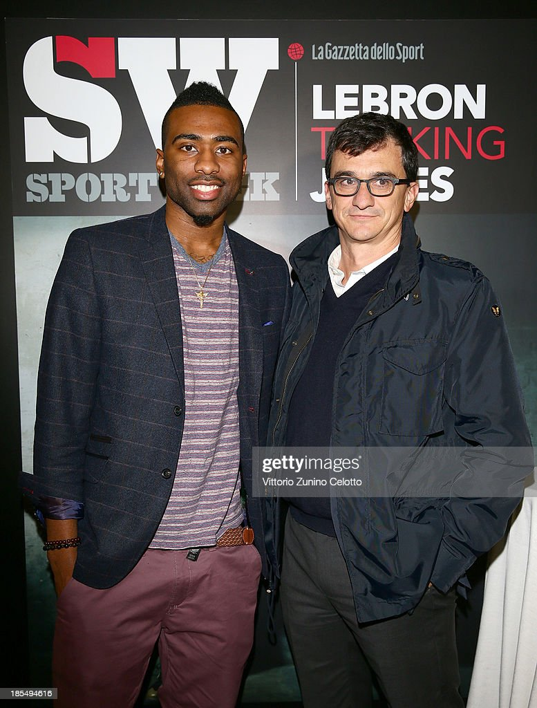 Keith Langford (L) and Matteo Dore (R) attend Audemars Piguet Cocktail on October 21, 2013 in Milan, Italy.