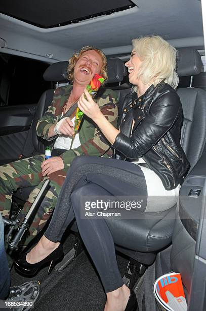 Keith Lemon and Kimberly Wyatt sighting arrving at Funky Buddah Berkeley Street Mayfair on May 10 2013 in London England