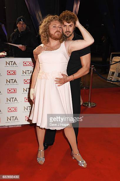 Keith Lemon and Paddy McGuinness attend the National Television Awards at Cineworld 02 Arena on January 25 2017 in London England
