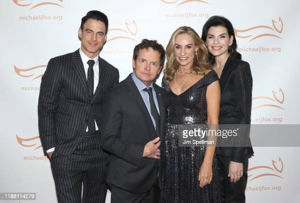 Keith Lieberthal actors Michael J Fox Tracy Pollan and Julianna Margulies attend the 2019 A Funny Thing Happened On The Way To Cure Parkinson's at...