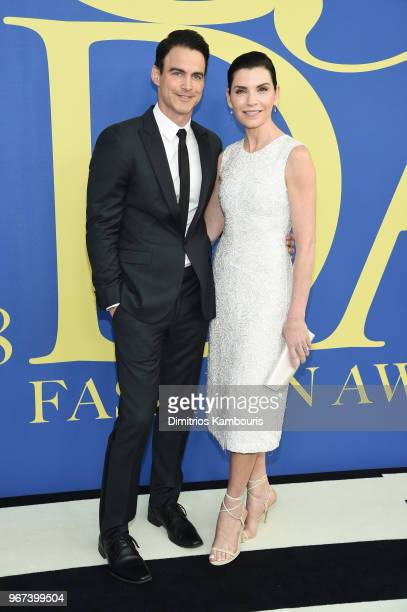 Keith Lieberthal and Julianna Margulies attend the 2018 CFDA Fashion Awards at Brooklyn Museum on June 4 2018 in New York City