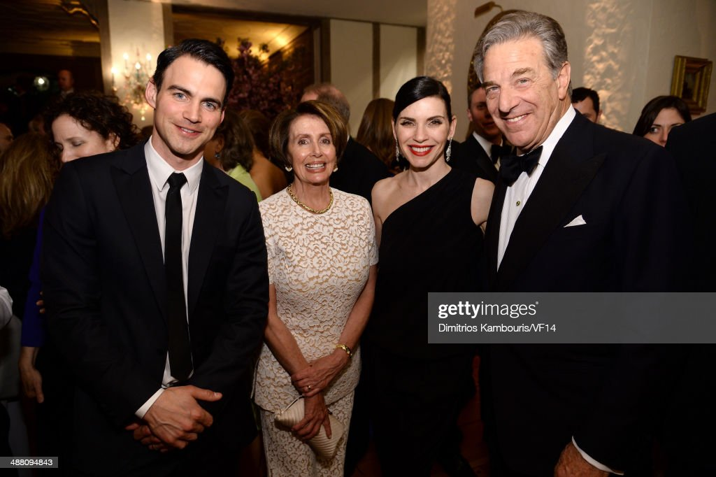 Keith Lieberthal, Congresswoman Nancy Pelosi, Julianna Margulies and Paul Pelosi attend the Bloomberg & Vanity Fair cocktail reception following the 2014 WHCA Dinner at Villa Firenze on May 3, 2014 in Washington, DC.