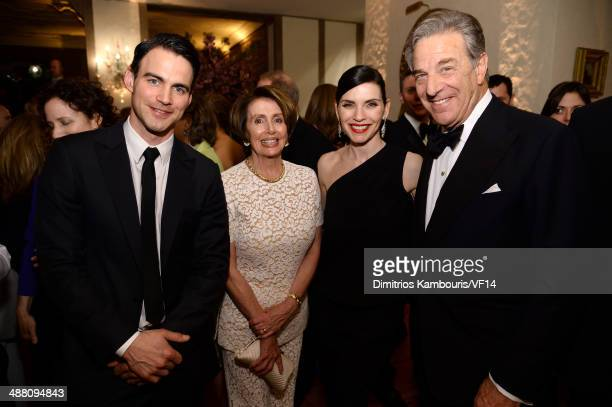 Keith Lieberthal Congresswoman Nancy Pelosi Julianna Margulies and Paul Pelosi attend the Bloomberg Vanity Fair cocktail reception following the 2014...