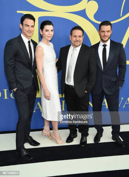 Keith Lieberthal Julianna Margulies Narciso Rodriguez and Thomas Tolan attend the 2018 CFDA Fashion Awards at Brooklyn Museum on June 4 2018 in New...