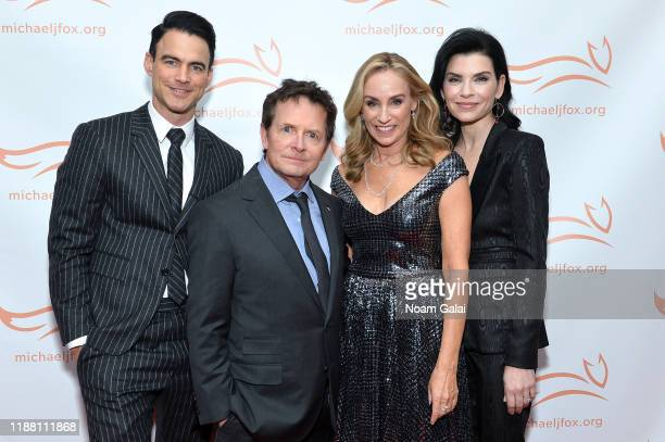Keith Lieberthal Michael J Fox Tracy Pollan and Julianna Margulies attend A Funny Thing Happened On The Way To Cure Parkinson's benefitting The...
