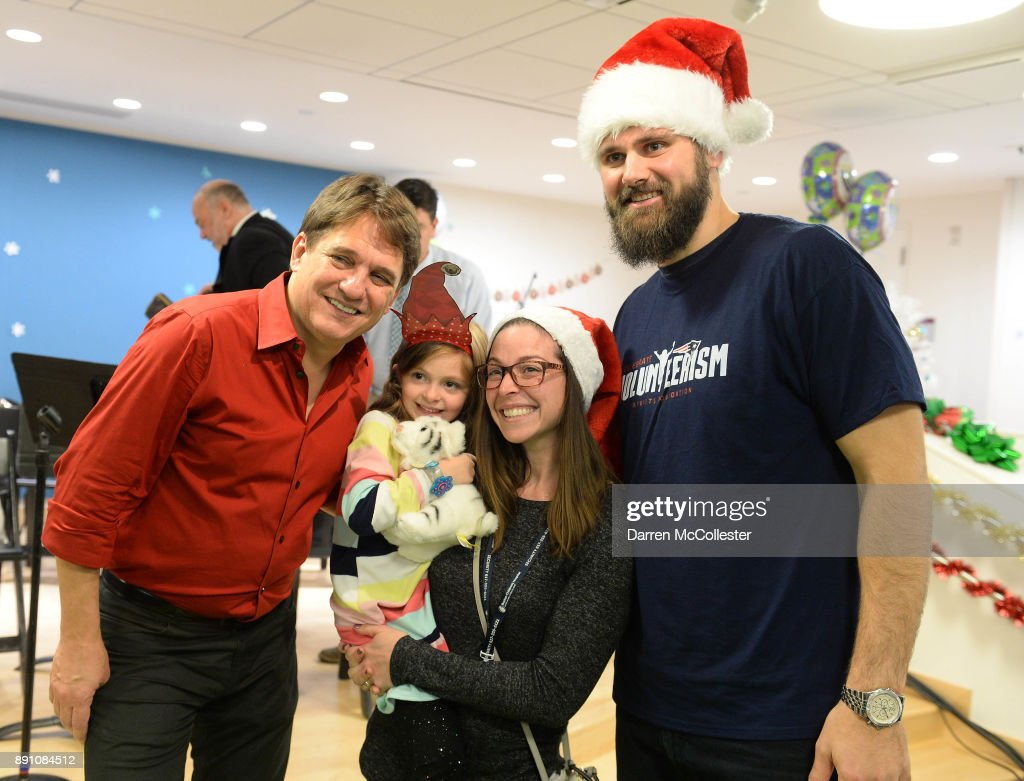 The Boston Pops, Keith Lockhart And New England Patriots Alumni Sebastian Vollmer Bring Holiday Fun To Boston Children's Hospital
