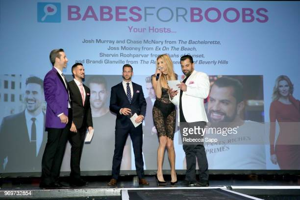 Keith McClane Josh Murray Chase McNary Brandi Glanville and Shervin Roohparvar attend Babes for Boobs Live Auction Benefiting Susan G Komen LA at El...